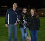 Lara Glennon with her parents, Pat and Meredith.
