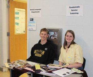 Paul Gilpin and Lara Glennon at the World Languages and Guatemala table.
