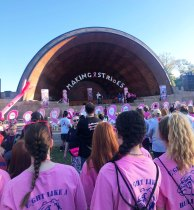 Arriving at the Hatch Shell in Boston for the Walk on Sunday morning Sept. 29.