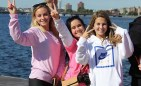 From left, Chloe Jones, Greta Russo and Kendra Peretzman