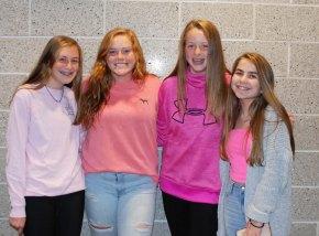 Emma Radzik, Shaina Higgins, Maddy Hermenau and Toni Hawe.