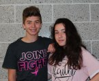 Michael Caron and Abigail Proctor on Pink Out Day.