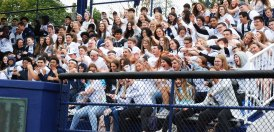Rockland High School students filled the stands with white to show their support!