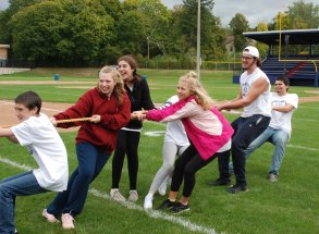 The winning tug of war team