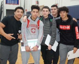 From left: Dante Vasquez, Mateo Vasquez, Zach Baldi, Luis Santos and Gabriel Pinheiro. Dante produced a video about the fair.