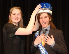 Lara Glennon crowns Zack Webb as Mr. Rockland