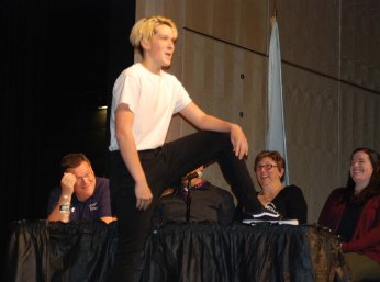 Phil Pattinson has a leg up on the judges' table