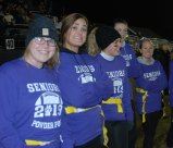 Katie McGuirk, Alyssa Patten, Maddie Gear, Julia Yeadon, Sarah McLellan on the senior sideline.