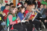 The band plays a holiday tune at Memorial Park.