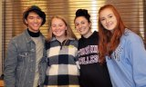 Justin Sherlock, Caitlin Cameron, Sarah Pollard and Jasmin Morse were four of several alumni who visited RHS to share their first semester college experiences with students.